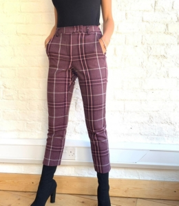 Grape & Pink Checked Trousers – 190 –