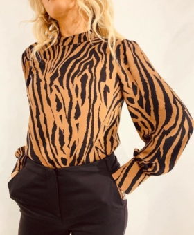Black & Brown Zebra Blouse (Product 151)