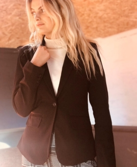 Black Buttoned Lined Blazer (Product Code 95)