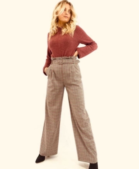 Check Loose Leg Trousers (Product Code 169)