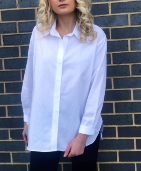 White Collared Shirt