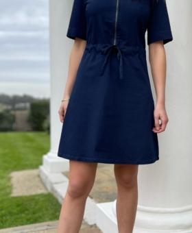 Dark Denim A-Line Mini Dress