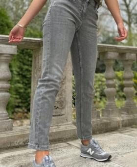 Grey Slim Fit Ankle Length Jean