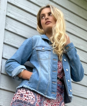 Blue Denim Relaxed Fit Jacket